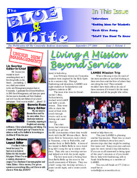 Blue & White 2004-2005/Issue 01