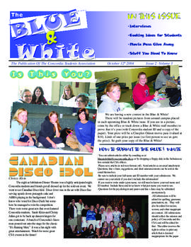 Blue & White 2004-2005/Issue 02
