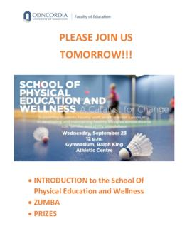 Introduction to the School of Physical Education and Wellness