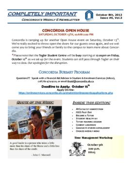 Concordia Weekly Newsletter Volume 03/Issue 06