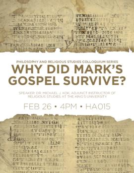 Why did Mark's gospel survive?