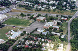 Aerial view of campus, West side