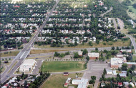 Aerial view of campus, West View
