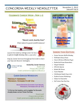 Concordia Weekly Newsletter Volume 06/Issue 09