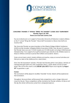 "Concordia Thunder 1st annual ""Bring The Thunder"" classic golf tournament"