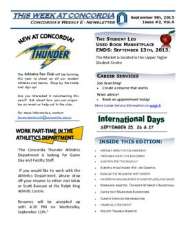 Concordia Weekly Newsletter Volume 04/Issue 02