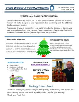 Concordia Weekly Newsletter Volume 04/Issue 14