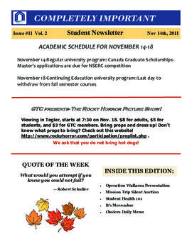 Concordia Weekly Newsletter Volume 02/Issue 11